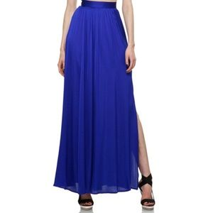 Rachel Zoe Vanessa maxi silk skirt